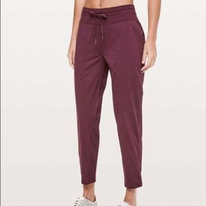 Lululemon Red Rust Dace Studio Crop Pants 10